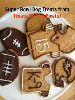 football theme dog treats