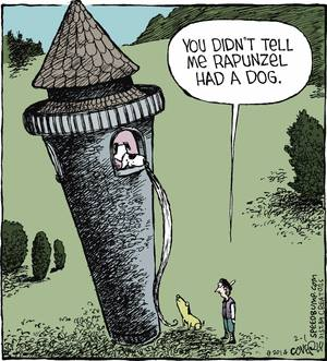 Dog Humor Rapunzel's Dog