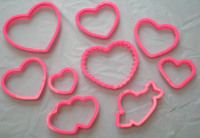 valentine treats cookie cutters