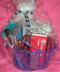 wrapped diy dog lovers gift basket