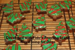 Decorated Christmas dog treats