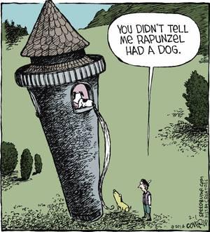 Dog Humor Rapunzel's Dog